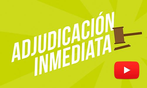 Noticias Cumplo - Nuevo video Adjudicación Inmediata