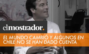 """Noticias Cumplo - Nico Shea en El Mostrador: """"El mundo cambió y algunos en Chile no se han dado cuenta"""""""