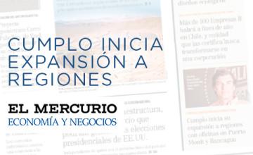 Noticias Cumplo - El Mercurio: Cumplo inicia expansión a regiones