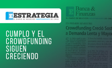 Noticias Cumplo - Cumplo y el crowdfunding siguen creciendo