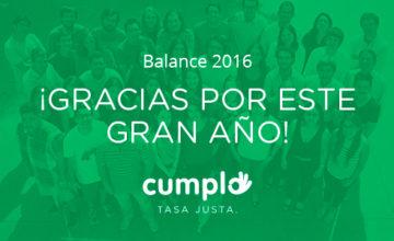 Noticias Cumplo - ¡Gracias por este gran 2016!